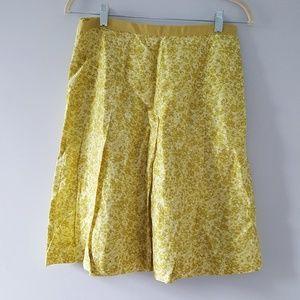 Banana Republic Silk Skirt A Line Chartreuse 4